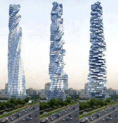 WOW~超炫的建築設計 !!  杜拜~達芬奇旋轉塔 Davinci Rotating tower