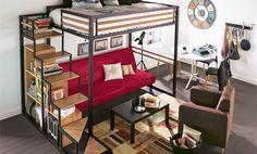 Solution petit espace : une mezzanine design et fonctionnelle - Chambre ado - Idées déco - Alinéa