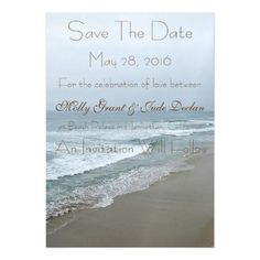 Romantic Beach Wedding Save The Date Magnet Magnetic Card