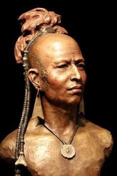 Mohawk Warrior. Western Bronze Sculptures and Sketches | Sunti World Art. Brass
