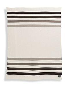 HBC Collections | Blankets & Throws | Millennium Stripe Cotton Knit Blanket | Hudson's Bay