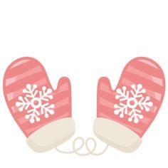 Striped Mittens SVG scrapbook title winter svg cut file snowflake svg cut files for cricut cute svgs free