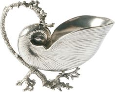 Pewter Nautilus Gravy Boat- have you ever seen such a beautiful gravy boat!?
