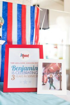Boys Airplane Themed Birthday Party Welcome Sign Ideas