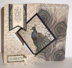 Designed by Lisa. Craftwork Cards, Vintage Vogue, Craft Work, Cardmaking, Birthday Cards, Card Ideas, Projects To Try, Lisa, Birds