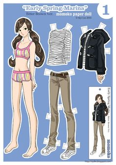 folding tabs: Paper dolls by Siyi Lin-Early Spring Marina