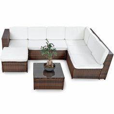 XINRO 19tlg XXXL Polyrattan Gartenmöbel Lounge Sofa Günstig   Lounge Möbel  Lounge Set Polyrattan Rattan Garnitur
