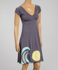 This Slate Wave Meadow Tie-Back Organic Dress by Synergy Organic Clothing is perfect! #zulilyfinds