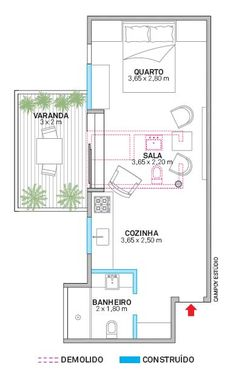 Reforma criou até uma varanda no apê carioca de 44 m² - Casa