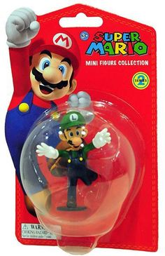 Luigi - Super Mario Mini Figure Collection Series 2 (5cm)  Manufacturer: Together Enarxis Code: 011079 #toys #figures #Luigi #Nintendo #videogames