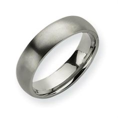 Titanium 6mm Brushed Comfort Fit Wedding Band (Size 6-13) Vishal Jewelry. $51.00. Metal: Titanium. Gender: Male / Female. Availability: 1 to 2 Business Days. Fit: Comfort Fit
