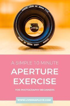 A quick exercise to help you understand aperture and depth of field in this photography tutorial for beginners.
