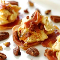 JULES FOOD...: SWEET SAVORY SPICY PECAN PANCETTA AND EGGS