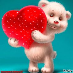 i love you gif Teddy Bear Pictures, Bear Images, Animated Heart, Animated Gif, Animated Love Images, Heart Wallpaper, Love Wallpaper, Photo Ours, Bisous Gif