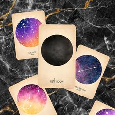 Astrology Moon Phases - Black and the Moon