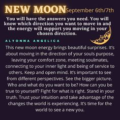 New Moon September, Daily Quotes, Me Quotes, Moon Information, Can You Be, Affirmation Quotes, Be True To Yourself, Daily Affirmations, Beautiful Soul