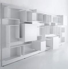 contemporary modular bookcase VITA by Massimo Mariani & AedasR MDF Italia