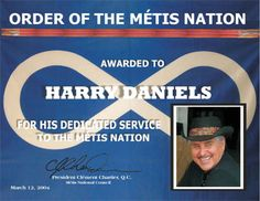 Harry Daniels was one of the founding members of the Saskatchewan Métis Society