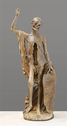 Ecole française - Vers 1520-1530 -  Allégorie de la mort, connue sous le nom La Mort Saint Innocent - Provenance : cimetière des Innocents (Paris)