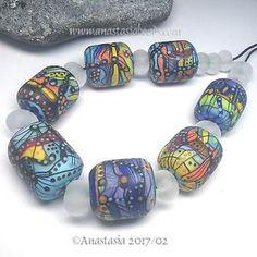 ANASTASIA-handmade-lampwork-beads-7-034-CARNIVAL-034-SRA http://www.ebay.com/itm/262871743432?ssPageName=STRK:MESELX:IT&_trksid=p3984.m1555.l2649
