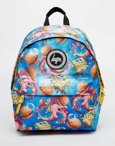 77349965a673 Hype x Spongebob Backpack with Burger and Patrick Print