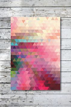 Craft inspiration: Geometric by angelaferrara - could do this with Paint chips