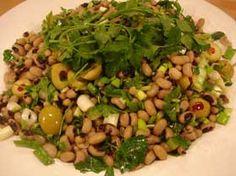 Borulce Salatasi(Black-Eyed Peas With Courgettes) Recipe  http://www.yemek-tarifi.info/english/recipe.php?recipeid=432