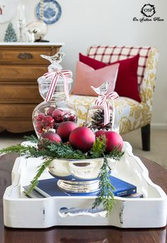 10 Easy ways to add a touch of the holidays to your home. DIY and budget friendly! | On Sutton Place