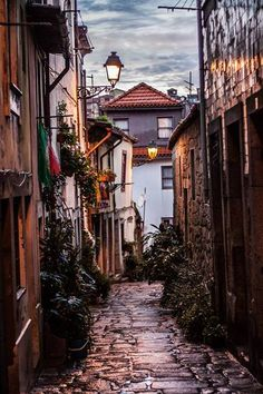 Porto old narrow streets of the old neighborods Portugal . Relax with this nature photo. Porto Portugal, Visit Portugal, Spain And Portugal, Portugal Travel, Places Around The World, Oh The Places You'll Go, Places To Travel, Places To Visit, Around The Worlds
