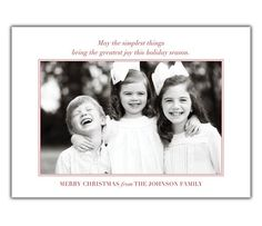 Simple Christmas Photo Card - BrownPaperStudios.com New Year Greeting Cards, New Year Greetings, Very Merry Christmas, Simple Christmas, Christmas Photo Cards, Christmas Photos, Diy Cards, Your Cards, Johnson Family