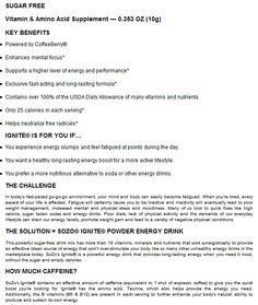 IGNITE POWDER DRINK - Barway Success Team