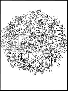"Quote Colouring Page/Digital Tangle: 'Wings' by S. Acton-""There is no flying without wings"" Inspirational French Proverb Doodle Illustration (5.00 CAD) by inkmetalpaint"