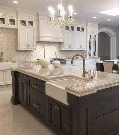 ideas bathroom sink decor countertops granite for 2019 Home Decor Kitchen, Luxury Kitchens, Kitchen Remodel, Home Decor, Home Kitchens, Kitchen Layout, Kitchen Style, Kitchen Renovation, Kitchen Design