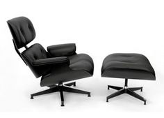 Eames-Black Rounge Chair