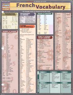 French Vocabulary Quick Study