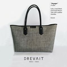 Drevait Designer Handbag - Voyager Resort Tote - Truffle  Join the Journey on Instagram: @drevaitofficial, and Facebook: www.facebook.com/drevaitofficial