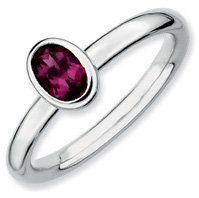 0.6ct Silver Stackable Oval Rhodolite Garnet Ring Band. Sizes 5-10 Available Jewelry Pot. $24.99. Your item will be shipped the same or next weekday!. Fabulous Promotions and Discounts!. 30 Day Money Back Guarantee. 100% Satisfaction Guarantee. Questions? Call 866-923-4446. All Genuine Diamonds, Gemstones, Materials, and Precious Metals. Save 63%!