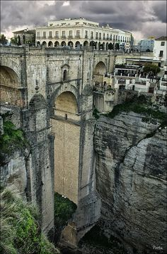 Ronda - Málaga. Spain. Damn, I totally missed this on my trip to Spain. Oh well, gotta go back I guess.