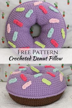 Free Pattern for Crocheted Donut Pillow. | crochet donut | Crochet donut | Crochet pattern | crochet pattern | free crochet pattern | Free crochet pattern | crochet pillow | crochet pillow free | crochet pillow free pattern | Crochet pillow free pattern | crochet donut free pattern | crochet kids | crochet for home | Crochet pillow free | #crochet #crochetdonut #crochetpillow #freecrochetpattern
