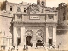 The Victoria Gate in the 1890s Valletta Malta