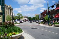 Entering McKinney's downtown square from the west