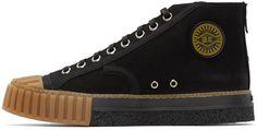 Adieu Black Canvas Type W.O. High-Top Sneakers