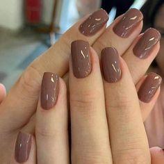 Classy Nails, Stylish Nails, Trendy Nails, Brown Nails, Purple Nails, Dark Nude Nails, Brown Nail Polish, Uñas Color Cafe, Nail Paint Shades