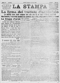 L'armistizio del 5 novembre 1918 pone fine alla Prima guerra mondiale.