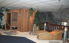 Epidarium en sauna in showroom Bubbels & Jets