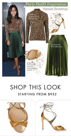 """""""Party outfit idea"""" by swweetalexutza ❤ liked on Polyvore featuring Jimmy Choo, outfit, party, inspiration, Idea and hannahbronfman"""