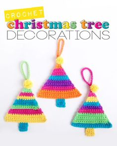 My Poppet: Free Crochet Christmas Tree Decorations Pattern by Poppy & Bliss (Michelle Robinson)