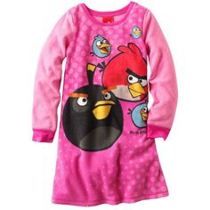 Angry Birds Fleece Nightgown ($18) ❤ liked on Polyvore featuring intimates, sleepwear, nightgowns, fleece sleepwear, angry birds, angry birds sleepwear and fleece nightgown