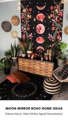 Boho Room, Boho Living Room, Living Room Decor, Interior Decorating, Interior Design, Home And Deco, Bohemian Decor, Modern Hippie Decor, Bohemian Apartment Decor