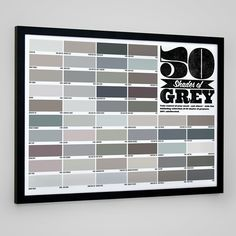 50 Shades of Grey Poster from Firebox.com